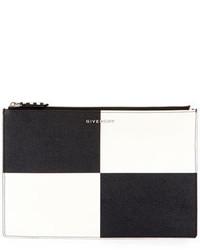 Check medium leather pouch blackwhite medium 1252158