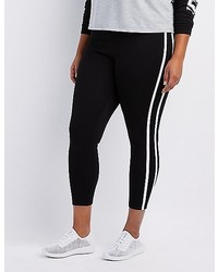 Charlotte Russe Plus Size Varsity Stripe Ponte Leggings