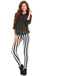 Material Girl Juniors Pants Striped Leggings