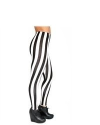 Soho Girl Beetlejuice Striped Leggings