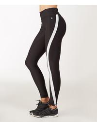 White Black Stripe Leggings