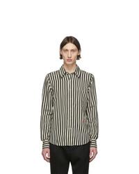 AMI Alexandre Mattiussi Black And Off White Striped Shirt
