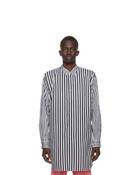 Comme Des Garcons Homme Plus Black And White Broadcloth Stripe Shirt