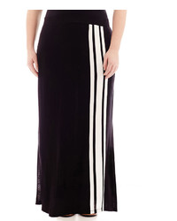 jcpenney Ana Ana Striped Wide Waistband Knit Maxi Skirt Plus