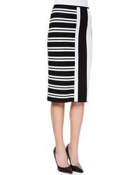Theory Efersten Mixed Stripe Knit Skirt
