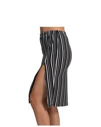 G2 Fashion Square Vertical Striped Side Slit Skirt