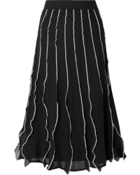 fcc5888ce Black and White Vertical Striped Skirts for Women | Women's Fashion ...