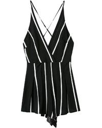 Spaghetti strap vertical striped white jumpsuit medium 238389