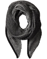 Black and White Vertical Striped Scarf