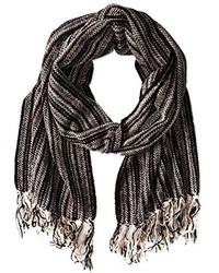 Isotoner Woven Stripe Rayon Chenille Scarf