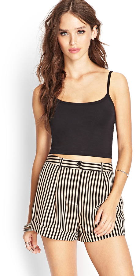How to high wear waisted striped shorts best photo