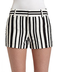Nanette lepore striking striped shorts medium 36445