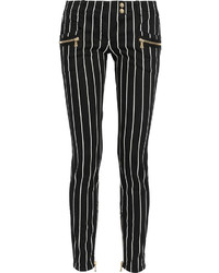 Black and White Vertical Striped Skinny Jeans for Women | Women's ...