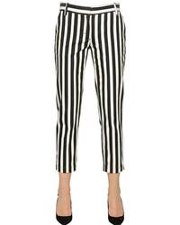 Dolce & Gabbana Striped Cotton Denim Capri Jeans