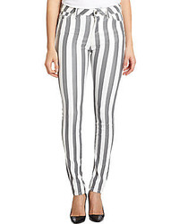 Iro metallic striped skinny jeans medium 162435