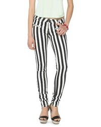 Mid Rise Striped Jeans Blackwhite Harper And Zoe
