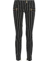 Mid rise striped skinny jeans medium 162436
