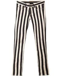 Saint Laurent Striped Skinny Jeans