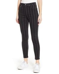 Tinsel Stripe High Rise Skinny Jeans