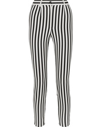 f05fe21a365e Black and White Vertical Striped Skinny Pants for Women | Women's ...