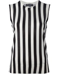 1abbd7c3150545 Dolce   Gabbana Striped Tank Top Dolce   Gabbana Striped Tank Top Out of  stock Sleeveless Top Black and White Vertical ...
