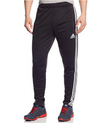 Black and White Vertical Striped Sweatpants