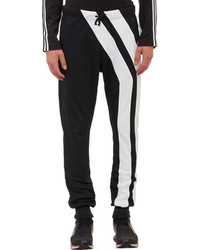 c9cc3780a Men s Black and White Vertical Striped Sweatpants by Y-3