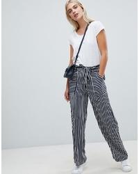 Pieces Stripe Wide Leg Trouser