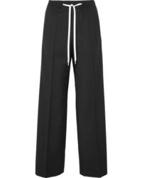 Miu Miu Striped Wool And Track Pants