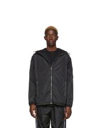 Marcelo Burlon County of Milan Black County Tape Windbreaker Jacket
