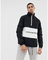 Calvin Klein Jeans Institutional Logo Pop Over Jacket Black