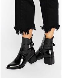 Boohoo Block Heeled Ankle Boot