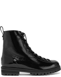 Jimmy Choo Brooke Patent Leather Ankle Boots Black