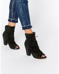 Asos Elaine Peep Toe Ankle Boots