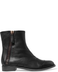 Chloé Lexie Textured Leather Ankle Boots Black