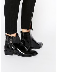 Vero Moda Quilted Patent Ankle Boots