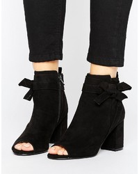 Asos Reunion Bow Ankle Boots