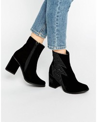 House of Holland Thunder Black Heeled Ankle Boots
