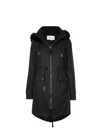 Derek Lam 10 Crosby Fox Trimmed Anorak With Detachable Faux Fur Vest