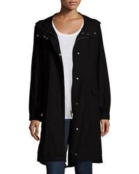 Eileen Fisher Hooded Long Anorak Jacket Petite