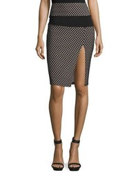 Sporty diamond pattern mesh inset pencil skirt medium 708484