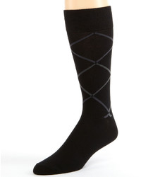 jcpenney Accents Accents Modern Black Argyle Socks