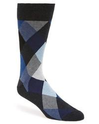 Bugatchi Argyle Socks Blue