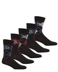 Black Argyle Socks