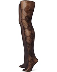 Argyle and solid tights pack of two medium 129757