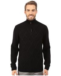 7a0b434b27 ... Perry Ellis Diamond Stitch Quarter Zip Sweater