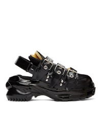 Maison Margiela Black Abrasive Low Sneakers