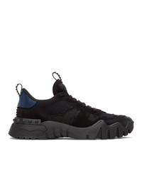 Valentino Black And Navy Garavani Rockrunner Plus Sneakers