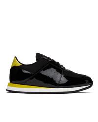 Giuseppe Zanotti Black And Yellow Megatron Sneakers