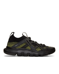 Z Zegna Black And Yellow Techmerino Sneakers